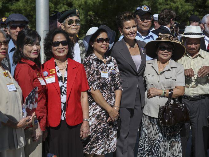 Vietnamese Families - Kentucky Vietnam Veterans Memorial 50th Anniversary of Vietnam War